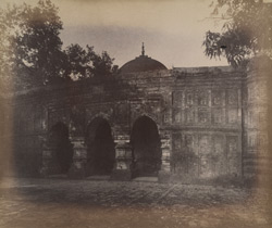 Front view of the Qadam Rasul [Masjid], Gaur. 1003107